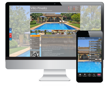 You own your holiday rental website