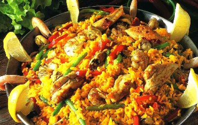 Paella mixta (with chicken and seafood)