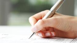 contrat professionnel avec termes et conditions