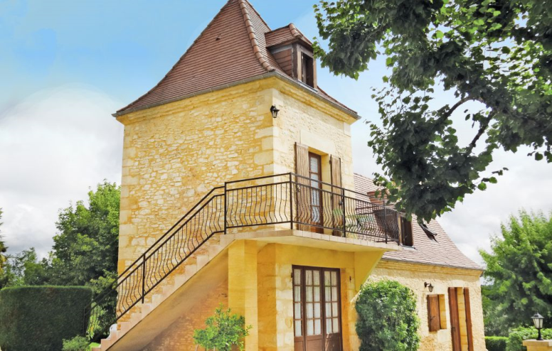 1179388,Apartamento en St. Crepin Et Carlucet, Dordogne, Francia  con piscina privada para 4 personas...
