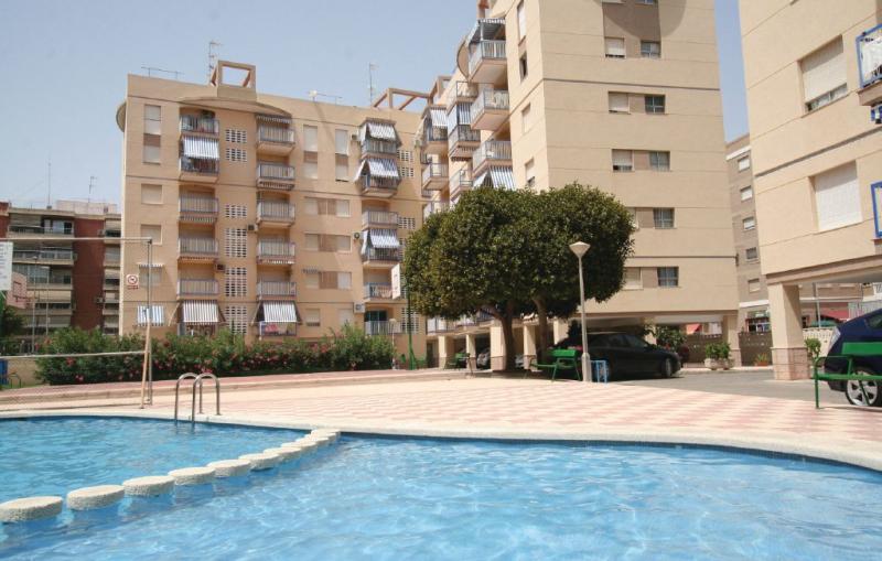 1195105,Appartement  avec piscine privée à Santa Pola, sur la Costa Blanca, Espagne pour 2 personnes...
