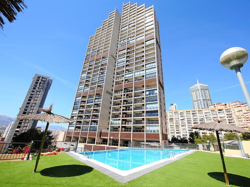 Miradores del mediterraneo 1448874,Apartamento en Benidorm, en la Costa Blanca, España  con piscina privada para 3 personas...