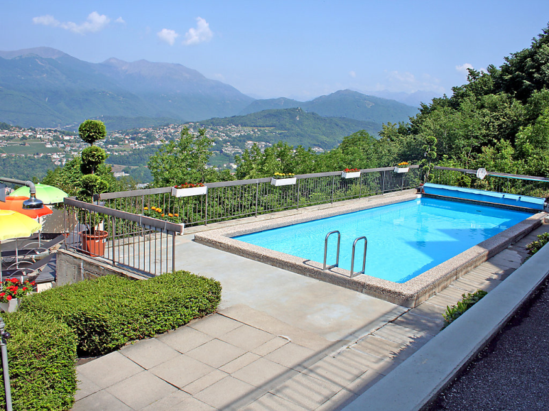 Aldesago monte br utoring 143382,Apartamento  con piscina privada en Aldesago, Ticino, Suiza para 2 personas...