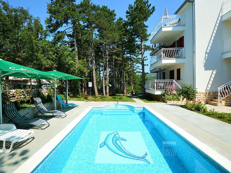 Fuma 1412886,Apartamento  con piscina privada en Crikvenica-Jadranovo, Kvarner, Croacia para 3 personas...