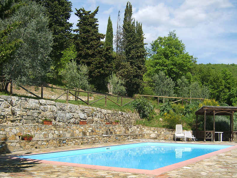 1452413,Apartamento  con piscina privada en Badia a Passignano, Chianti, Italia para 4 personas...