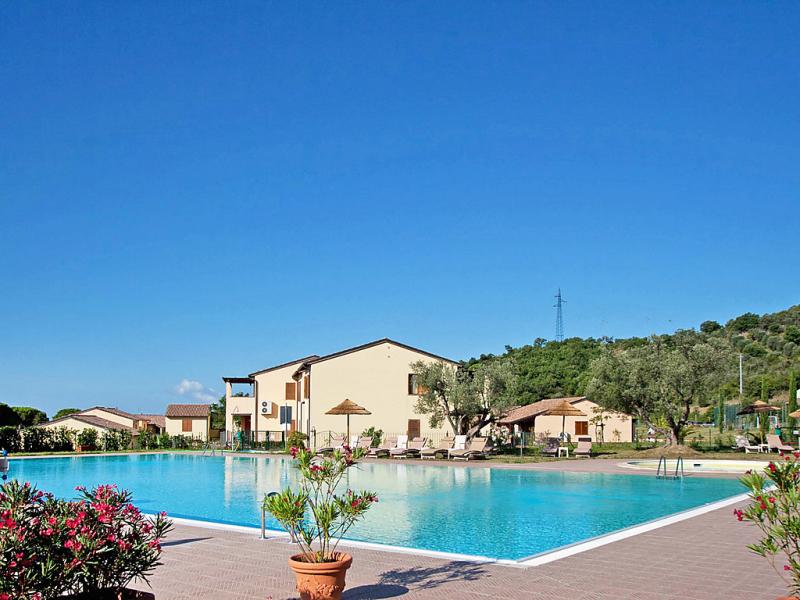 1463085,Apartamento  con piscina privada en Campiglia Marittima, en Toscana, Italia para 4 personas...