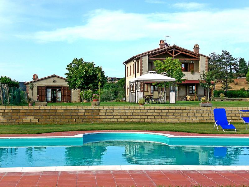 Stucchio 1421741,Casa rural  con piscina privada en San Casciano dei Bagni, en Toscana, Italia para 4 personas...
