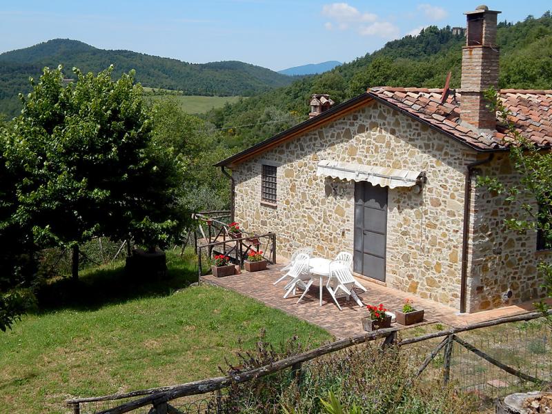 1494149,Villa  con piscina privada en Cortona, en Toscana, Italia para 4 personas...