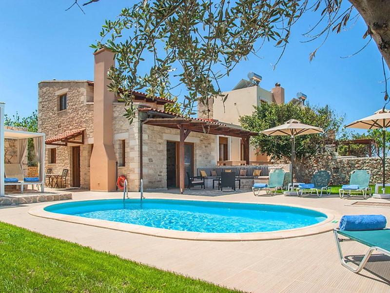 Villa nikos 1495578,Casa rural  con piscina privada en Stavromenos, Rethymno, Crete, Grecia para 5 personas...