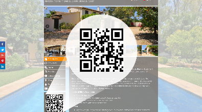 QR code for each holiday home