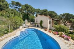 El horreo casa con piscina privada en begur, costa brava