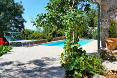 Elegant sensual stone house - restful yard, full privacy, children's playground, barbecue area, private pool